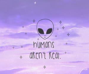 alien, purple, and sky image