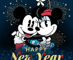 mickey, minnie, and happy new year image