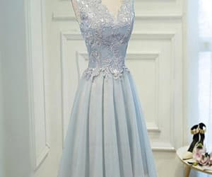 grey prom dresses, homecoming dress short, and homecoming dress lace image