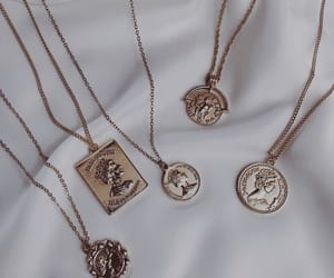 gold, necklace, and jewelry image