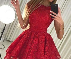 short homecoming dress, lace homecoming dress, and homecoming dress simple image