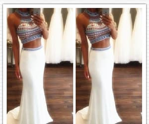 prom dresses mermaid, two pieces prom dresses, and 2018 prom dresses image