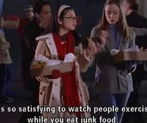 gilmore girls, junk food, and quotes image