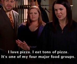 gilmore girls, lorelai, and pizza image