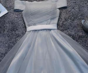short prom dress and grey prom dress image