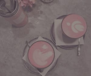 coffee, pink, and cafe image
