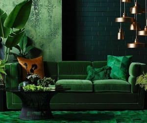 decor, green, and interiors image