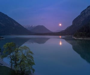 moon, water, and aesthetic image
