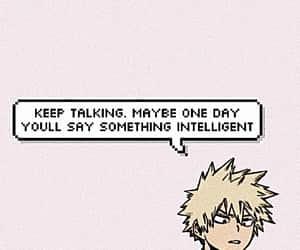 intelligent, bakugo, and pink image