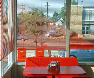 red, retro, and diner image