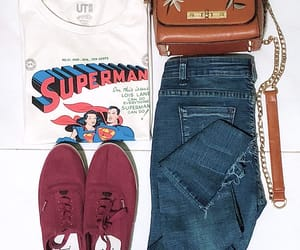 outfit, super man, and white image