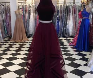 prom dress, prom dresses, and evening dresses two piece image