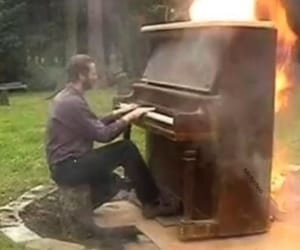 fire, music, and reaction pic image