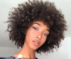 black women, natural hair, and curly fro image