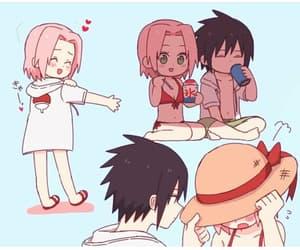 anime girl, background, and couple image