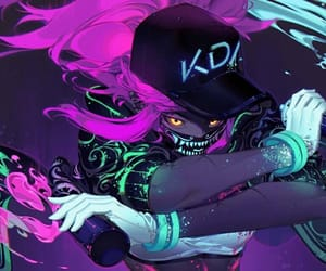art, league of legends, and kda image