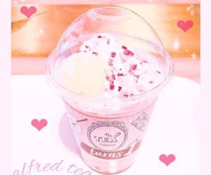pink drink, kawaii drink, and japanese drink image