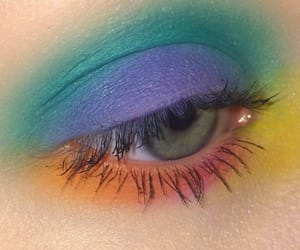 makeup, colors, and eyes image
