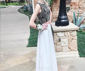 sleeveless prom dress, prom dress long, and prom dress a-line image