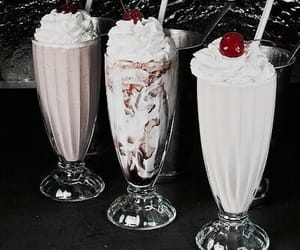 milkshake, food, and cherry image