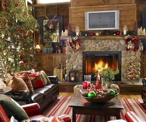 christmas, living room, and living room decor image
