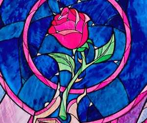 disney, beauty and the beast, and rose image