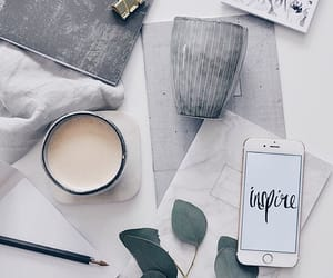 coffee, grey, and work image