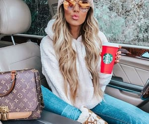 bag, hair, and blonde image