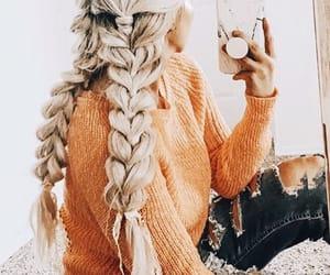 blonde, hair, and braids image