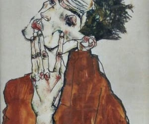 art, egon schiele, and painting image