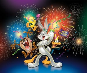 bugs bunny, happy new year, and new year image