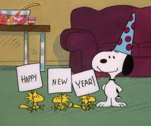 snoopy, happy new year, and new year image