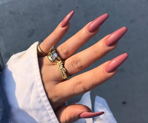 jacket, nail, and rings image