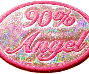 pink, angel, and glitter image