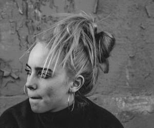 artist, hair, and b&w image