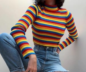 fashion, rainbow, and style image