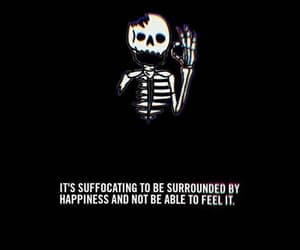 sad and skeleton image