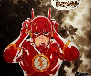 batman, flash, and red image