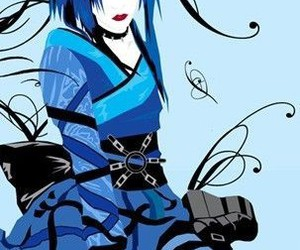 anime, goth, and paining image