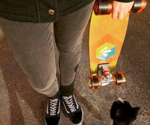 cat, skate, and vans image