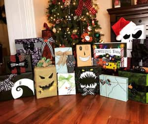 art, nightmare before christmas, and wrapping paper image