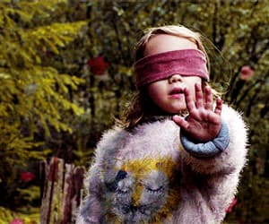 gif, bird box, and girl image