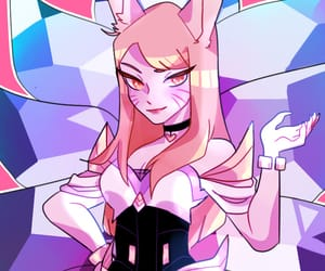 Q, ahri, and league of legends image