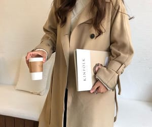 fashion, coffee, and beige image