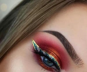eyeshadow, makeup, and red image