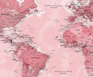 pink, wallpaper, and map image