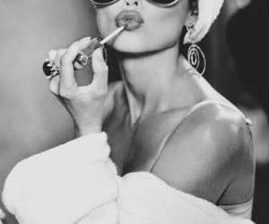 lips, sunglasses, and lipstick image