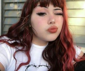 bangs, cabelo, and cereja image
