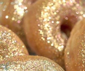 glitter, donuts, and gold image