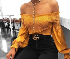fashion, gucci, and yellow image